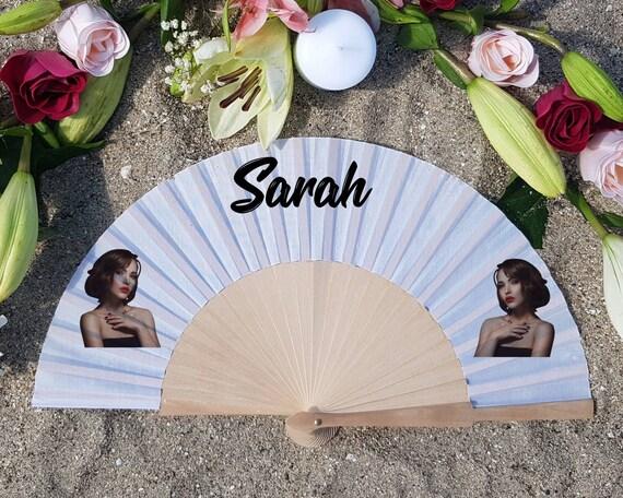 Custom Face Hand Fan , Personalized Hand Fan, Custom Name Gift, Bride Hand fan, Maid of Honor proposal