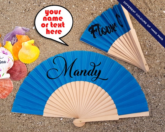 Personalized Hand Fan for brides, bridemaid proposal, Custom Hand Fan, Bride Hand fan, Maid of Honor gift, Summer Wedding  HF