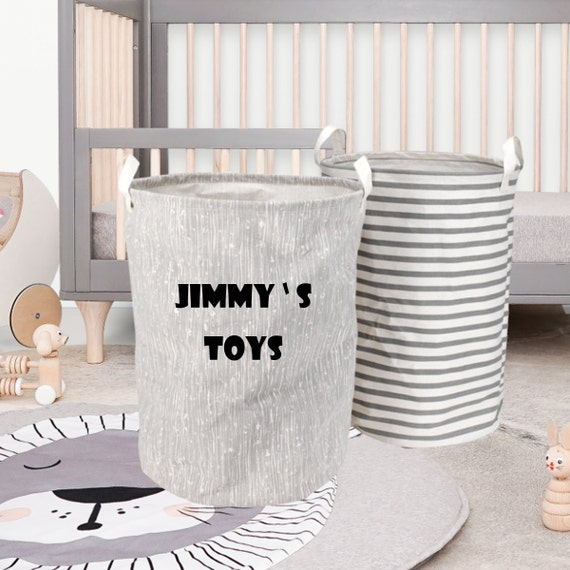 Personalised Name Toy Storage Tub, Toy Storage for children or pets B3