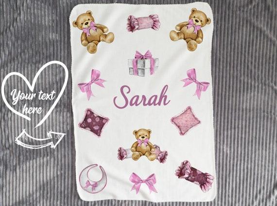 Baby Blanket in pink  Baby Girl, personalized baby gift, blanket, baby blanket, personalized blanket, custom blanket, baby shower gift B5