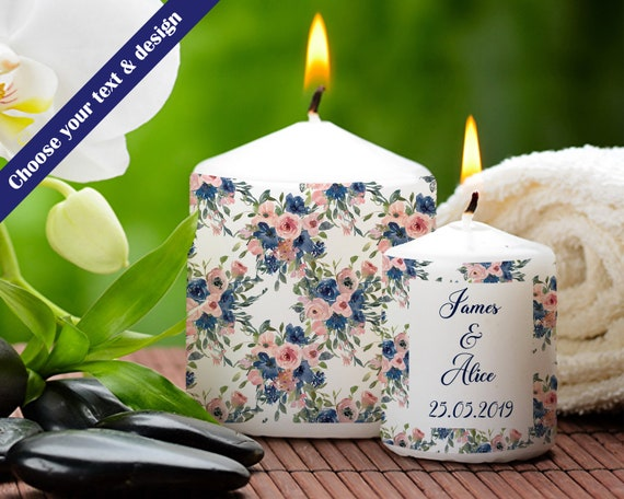 Wedding Photo Candle - Anniversary Candle - Personalised Candle - Wedding Anniversary Gift - Candle For Her - Photo Candle