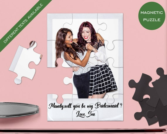 Set of 10 Magnetic Puzzles Bridesmaid gift, Maid of Honor Proposal. Bridesmaid gift, Bridemaid puzzle, Bridesamaid proposal P5