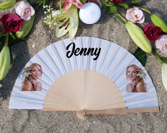 Personalized Hand Fan for bridemaid proposal, Custom face Hand Fan, Custom Name Gift, Bride Hand fan, Maid of Honor propos, Face gift
