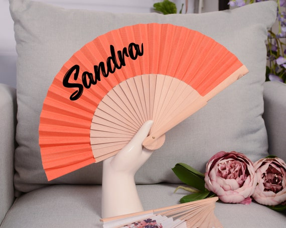 WEDDING FANS, Summer wedding, romantic floral print, bridal accessories, wedding accessories, gift for her, bridemaid proposal HF