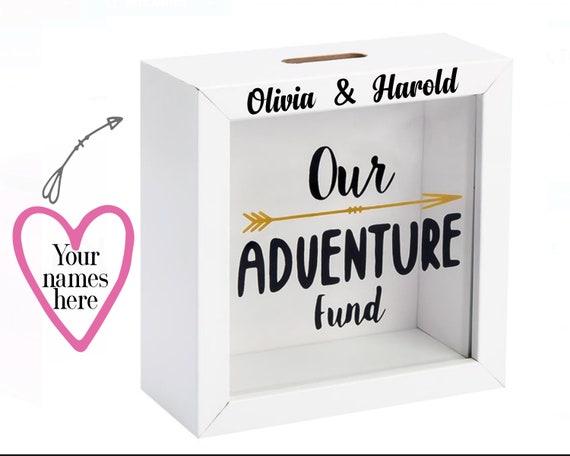Travel Gift // Graduation Gift // Adventure Fund // Travel Gifts // Travel // Piggy Bank // Money Box // Holiday Fund // EtsyLds