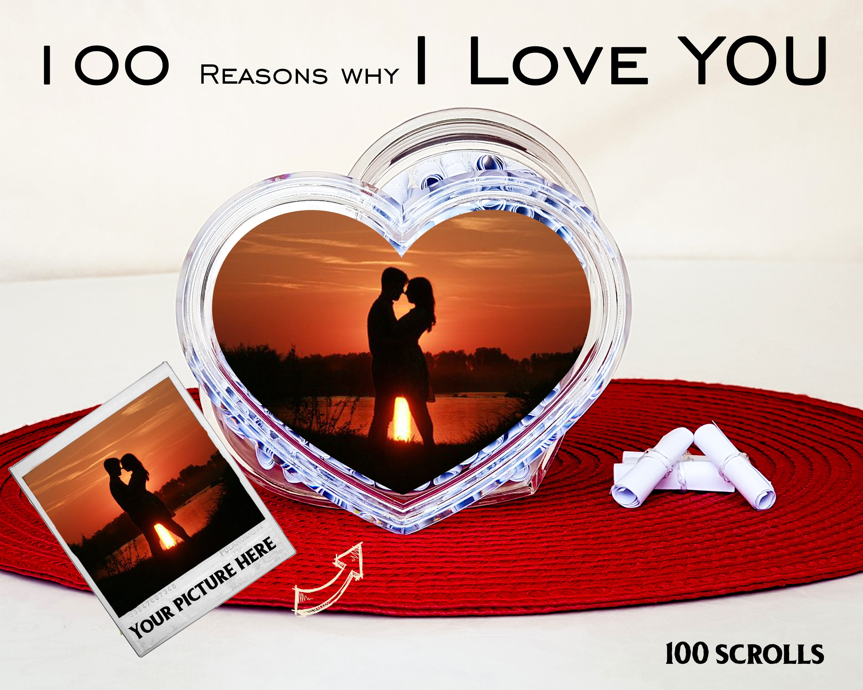 Personalised Reasons Why I Love You Valentines Day Gift