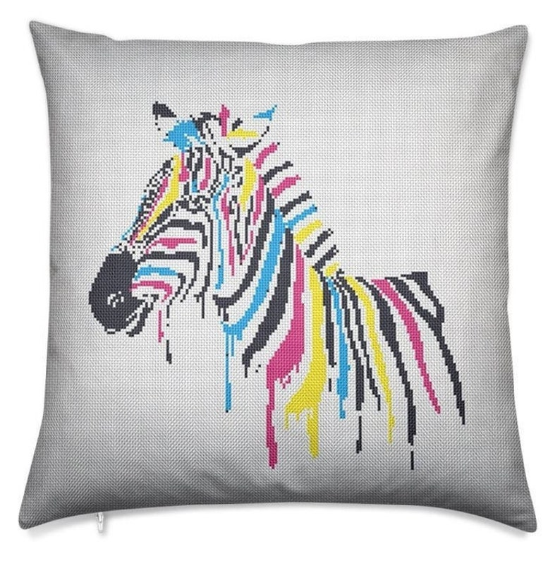 Beginner Embroidery Free Cross Stitch Counted Cross Stitch CS41 Hand Embroidery Zebra Cross Stitch Animal Embroidery Cute Cross Stitch
