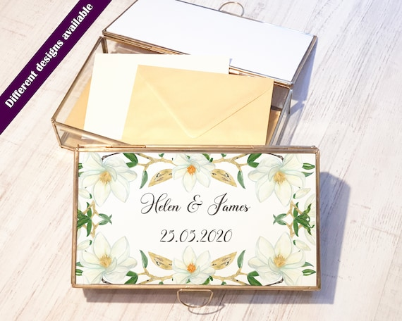 Personalised Wedding Card Box/ White Wedding /Rose Gold Text / Wedding Cards / Guest Presents/Envelope /Wedding Gift /Decorations