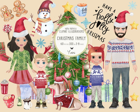 Christmas Clipart, Family Christmas, Planner Diy, Planner Dashboard, Planner Graphics, Christmas Tree, Clipart For Stickers TP16