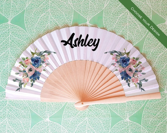 Set of 10 Personalised Hand Fan for bridesmaid gift, bridemaid proposal, Custom Name Gift, Bride Hand fan, Maid of Honor gift HF11