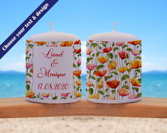 Wedding Candle, personalised wedding Favours, wedding decor, wedding table, tea light candles, party favours, Wedding Party Gift