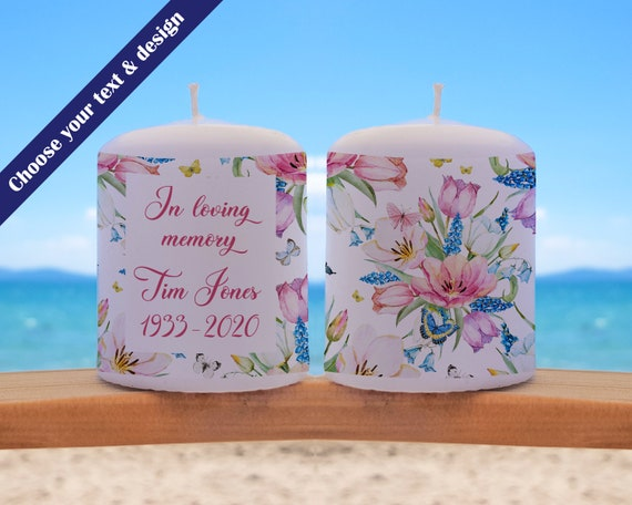 Thinking of You Candle, Sympathy Gift, Condolence Gift, Personalized Candle, Loss Of A Loved One, Remembrance Gift, Missing You Gift, Gift