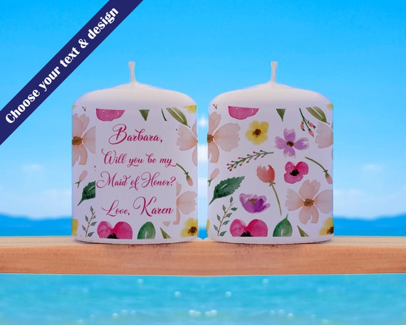 Will You Be My Maid of Honour, Maid of Honour proposal, Maid of Honour gift, Maid of Honour candle, Maid of Honor gift