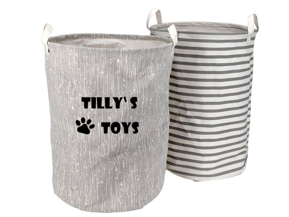 Personalised Pet Toy Basket, Pet Toy Basket, Dog Toy Basket, Cat Toy Basket, Pet Storage Basket, Toy Storage, Toy Bag, Pet Toy Bag B8