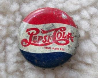 Pepsi dot dot Cola, Two dot, cork lined bottle cap, Vintage 1930's or earlier.