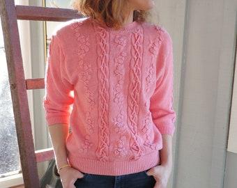 Pink vintage 80s sweater