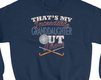 Grandma Field Hockey Sweatshirt-Grandpa Field Hockey Gift-Field Hockey Grandfather Gift-Field Hockey Grandmother Gift-Grandma Gifts