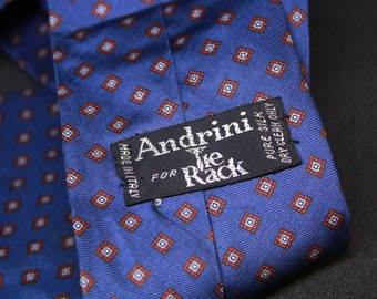 812441963a4f Andrini for Tie Rack/Pattern Ties/Vintage Ties/Business Ties/Fashion Ties/Silk  Neckties/Men Gifts/Classy gifts/Diagonal Ties