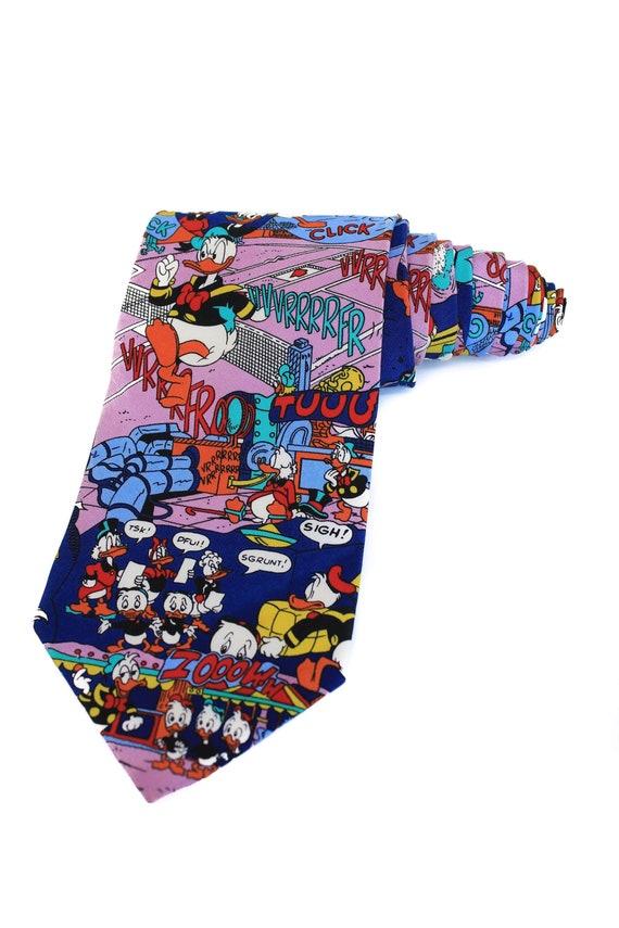 goditi un grande sconto gamma completa di articoli più popolare Cravatte cravatte/istruzione di Disney cravatte/Vintage Ties/Donald Duck  tema/gentiluomo legami/uomo regali/Disney tema/Huey Dewey Louie/umore