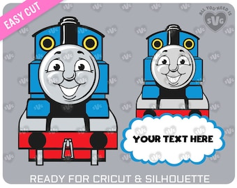 THOMAS THE TRAIN svg For cutting machines (Cricut, Silhouette, ScanNcut, Brother,…) - svg, dxf, png, ai format provided.