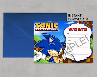 Sonic invitations Etsy