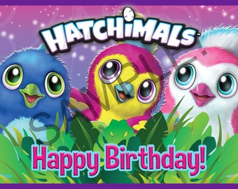 Hatchimals Inspired Backdrop Printable Happy Birthday DIY Banner Decorations Instant Download Jpeg No waiting! Huge Poster 60x40inch