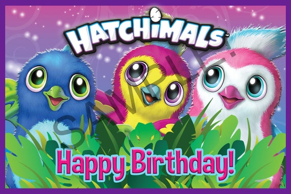 Hatchimals Inspired Backdrop Printable Happy Birthday DIY