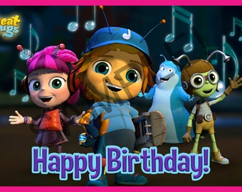 Beat Bugs Inspired Backdrop Printable Happy Birthday DIY Banner Decorations Instant Download Jpeg No waiting! Huge Poster 60x40inch