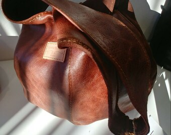 Leather Shoulder Bag - Rumbie Designs for AKELLO