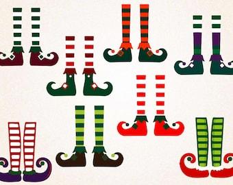 Elf Legs Clipart/Christmas Clipart/Elf Legs SVG,PNG 300 ppi,eps