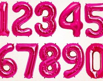 Pink Foil  Baloon Numbers SVG.PNG 300 ppi,eps/Pink Baloon Numbers Clipart/Happy Birtday/Colorful Numbers/Printable/Digital