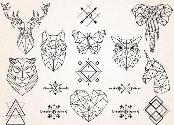 Geometric Animal Wallpaper 74 Images: Geometric Tattoos Clipart/Geometric Animals Clipart