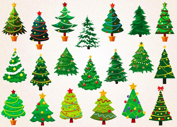 Png Christmas Decorations.Christmas Trees Clipart Christmas Elements Svg Png 300 Ppi Jpg Eps Christmas Decorations High Quality