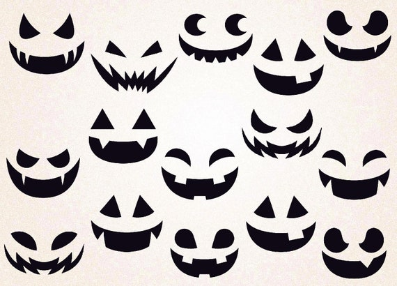 image relating to Pumpkin Faces Printable titled Pumpkin Faces SVG/pumpkin faces png/halloween svg/pumpkin svg/pumpkin faces template/printable/pumpkin afces decal/pumpkin faces slice/overwhelming