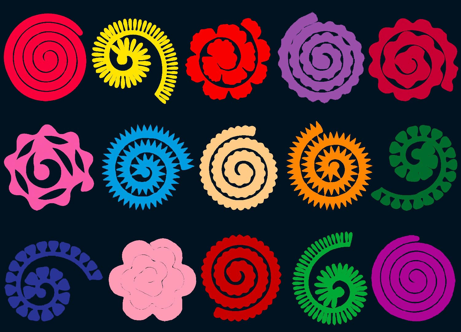 Rolled Paper Flowers Svg Png Epsrolled Paper Flowers Etsy