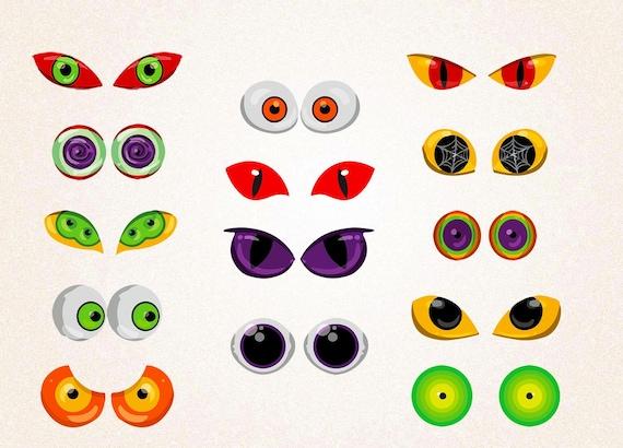 monster eyes clipart spooky eyes clipart creature eyes svg png 300 rh etsystudio com Monster Face Clip Art monster with no eyes clipart