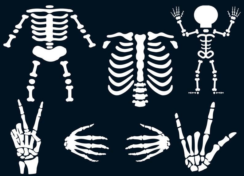 skeletons svg  halloween svg  skeleton hand  peace sign  rock