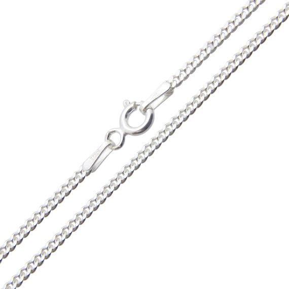 """9ct Yellow Gold on Silver CURB Chain Necklace 16 18 20 22 24 26 30/"""" Inch NEW"""