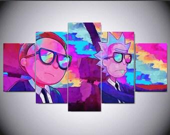 Rick Morty Wall Art Etsy