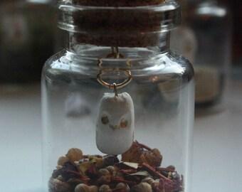 Mini owl in a bottle