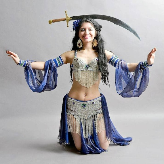 Costumes  Egyptian Belly Dance Costume  Set Professional Dancing handmade
