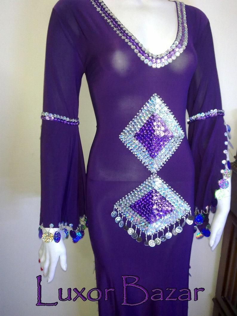 df8c72f36484 Oriental Egyptian Belly Dance Costume Saidi Dress Baladi