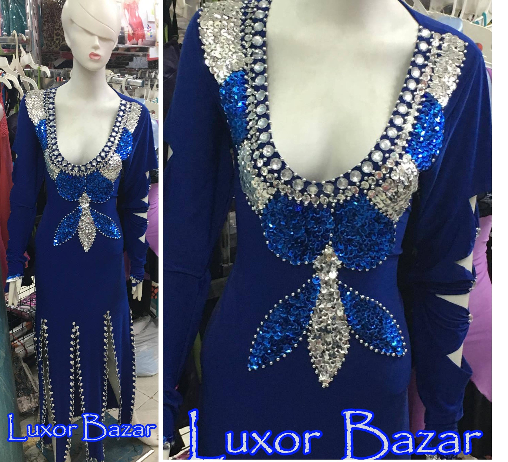 New Egyptian Belly Dance Costume Saidi Dress Baladi