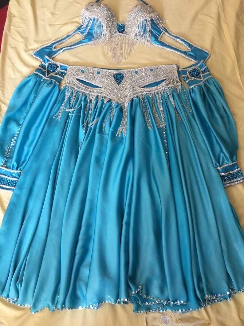 bauchtantz Handmade Egyptian professional belly dance costume Bellydance Dress Custom-made Gypsy oriental dance danse orientale outfit