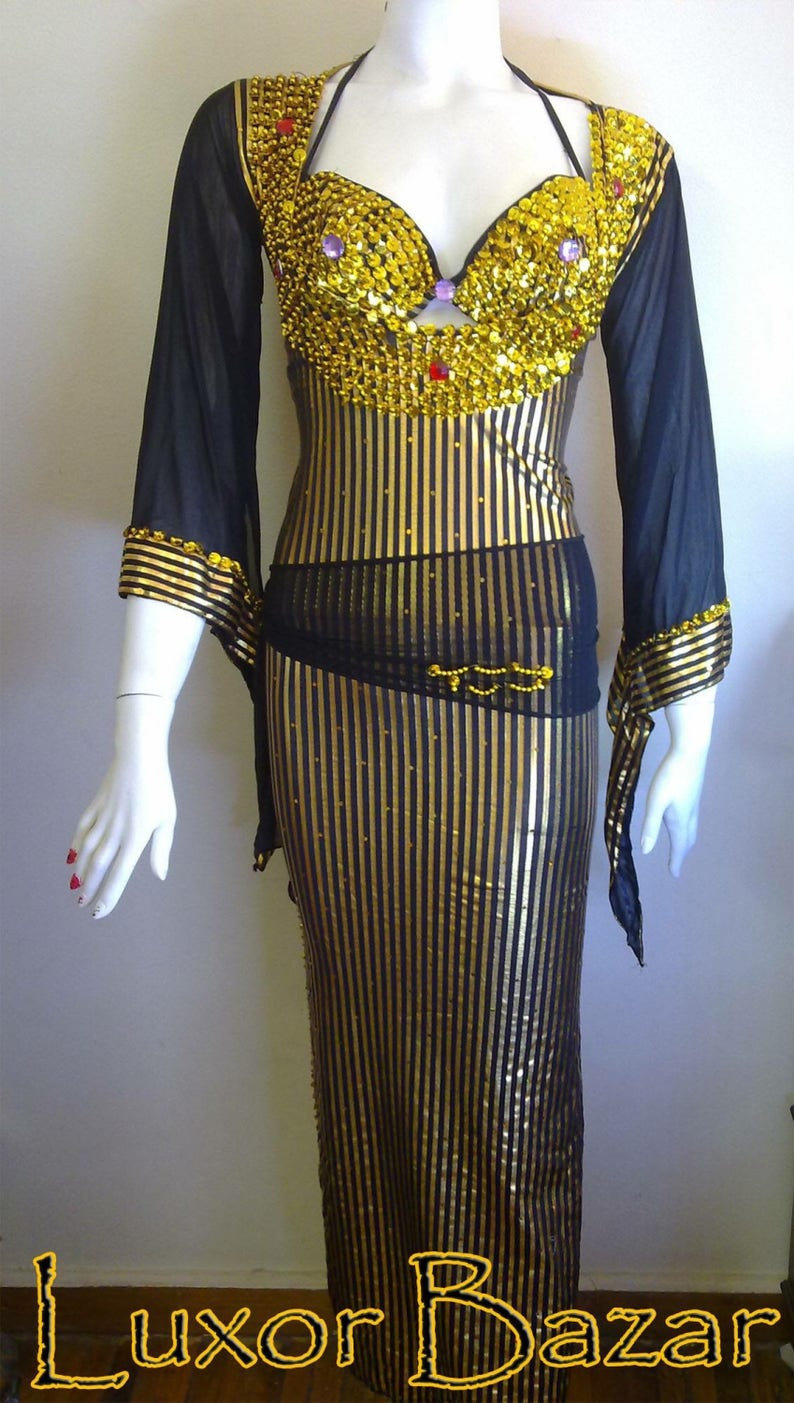 c7cc708f5d68a Egyptian Belly Dance Costume Saidi Dress Baladi Galabeya | Etsy