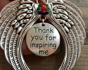 thank you for inspiring me angel ornament angel for mentor friend granddaughter grandson sister mother father brother ornament