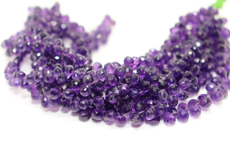 Natural African Amethyst faceted Drops Shape beads   Amethyst  tear Drops Beads   Amethyst Side drill drops  Amethyst  Briolettes