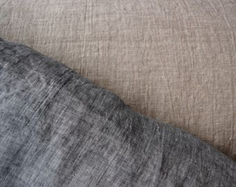 Melange Linen Fabric / Beautiful Dusty Colors /  Natural Fabric / Stonewashed / Rustic Fabric / Linen By the Yard / 100% Linen