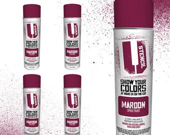 Grass Safe Spray Paint MAROON 4 PACK
