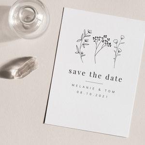 Willa Confetti Save the Date A6 Bright and Fun Save the Date Confetti Save the Date Invite Biodegradable Confetti Save the Date Card
